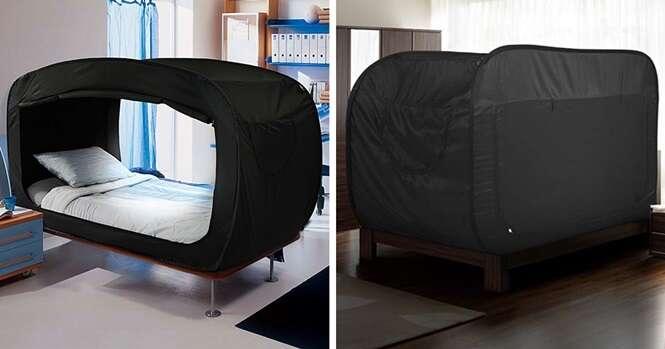 Esta cama-tenda é um sonho para quem sofre de ansiedade