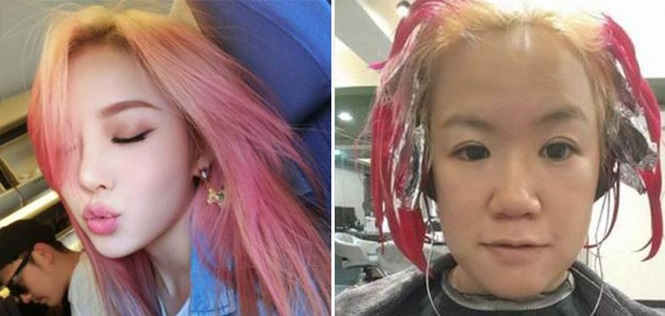 Essa mulher pediu mexas coloridas, mas o que aconteceu a deixou de cabelo em pé