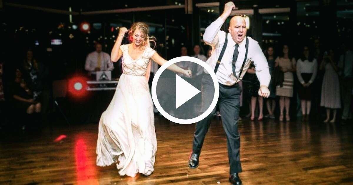 Vídeo: pai e filha espantam convidados com dança durante casamento