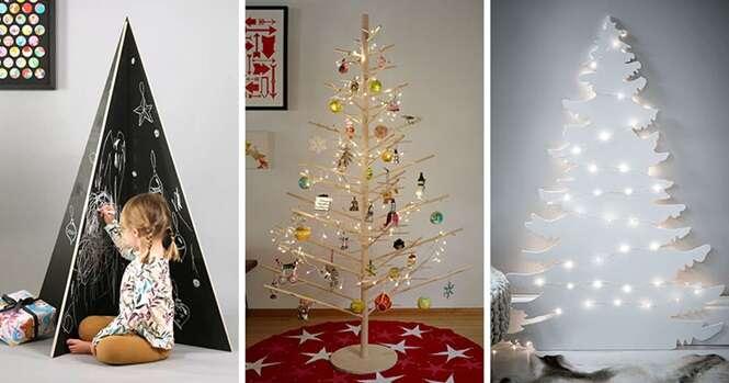 Árvores de Natal modernas para enfeitar sua casa