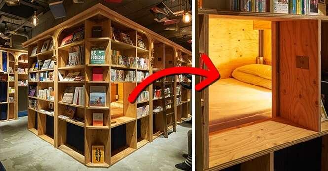 Este é o local ideal para quem gosta de ler e de dormir