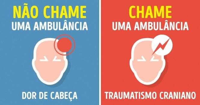 Saiba quando você deve chamar uma ambulância e quando não deve
