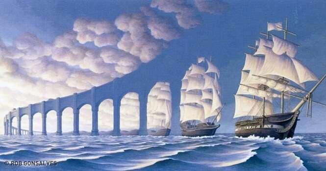 Artista usa surrealismo para enganar seus olhos