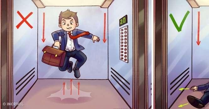 O que fazer se você estiver dentro de um elevador que está caindo