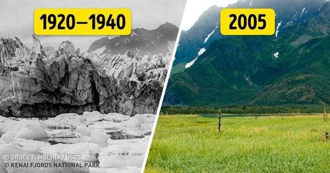 Fotos que farão qualquer pessoa acreditar no aquecimento global