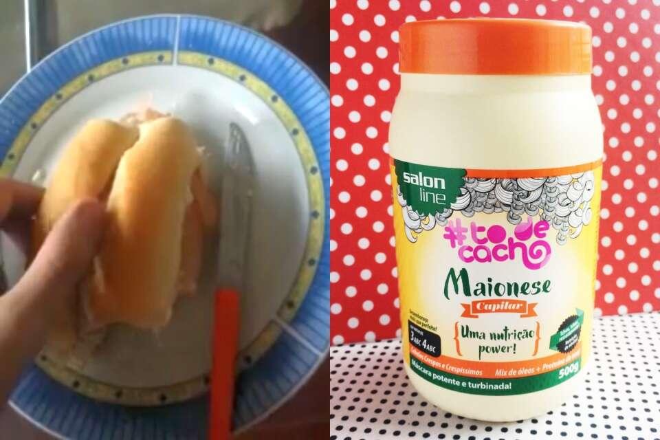 Jovem faz, sem querer, sanduíche com maionese capilar e viraliza no Facebook