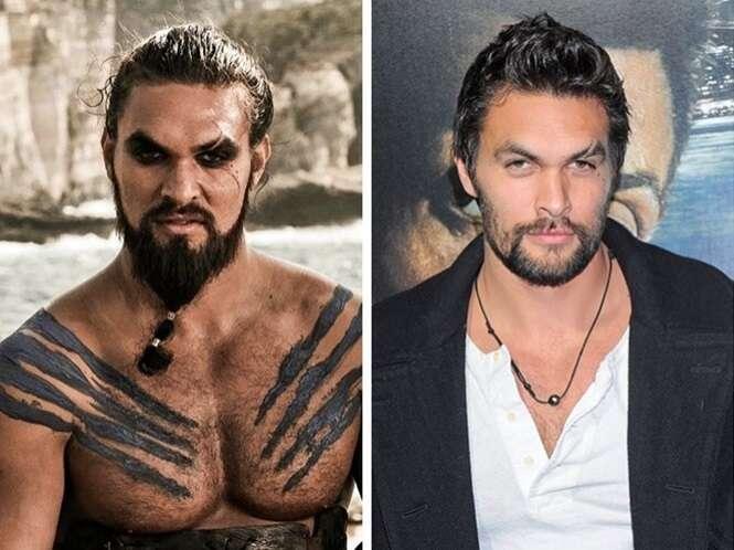 Imagens mostrando o antes e o depois de 12 atores e atrizes