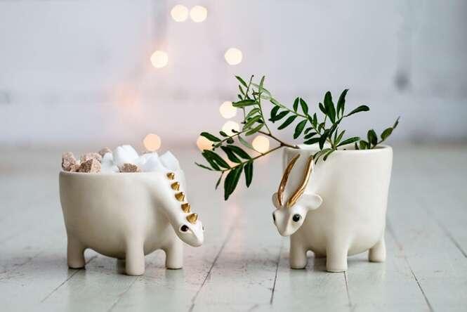 Lindos animais de cerâmica que deixariam a sua casa ainda mais bela