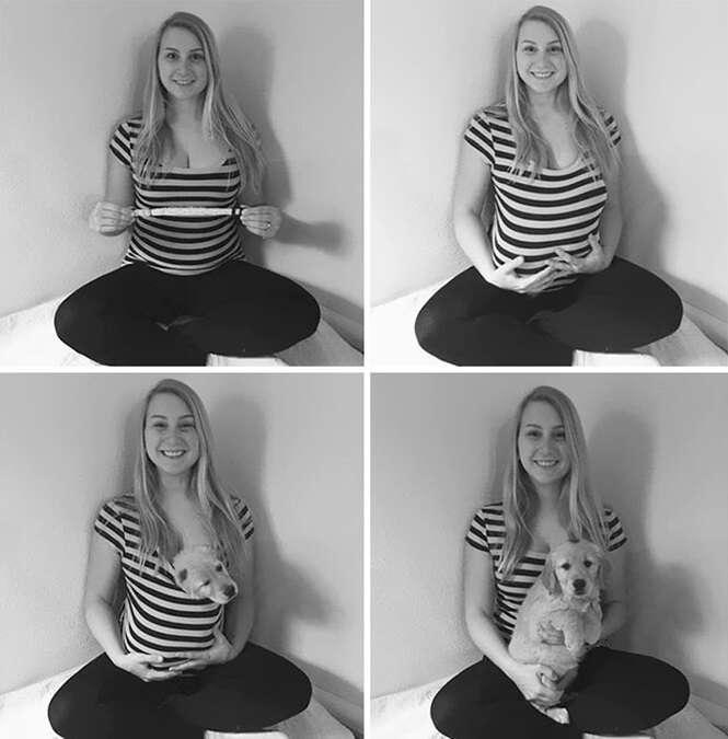 Cansado de ser perguntado sobre quando teria bebê, casal publica estas imagens