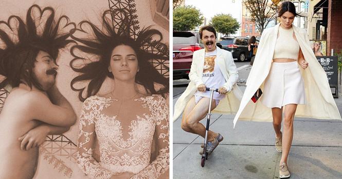 Homem se inclui em fotos da modelo Kendall Jenner e resultado é hilário