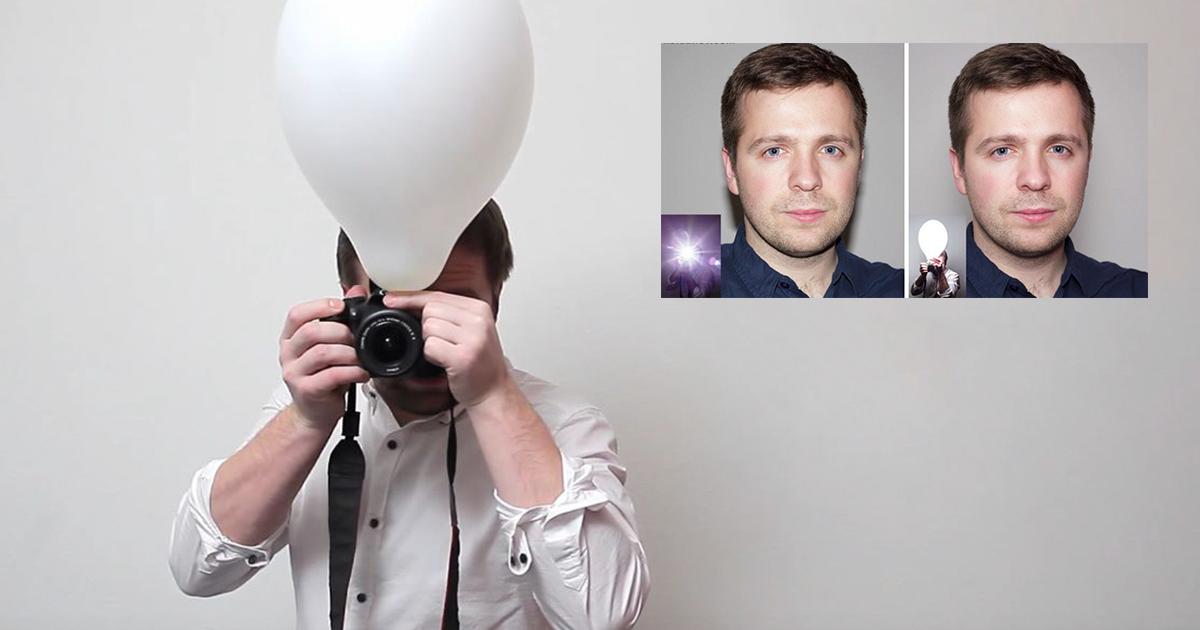 Sabia que um balão lhe ajuda a tirar fotos melhores que o normal?