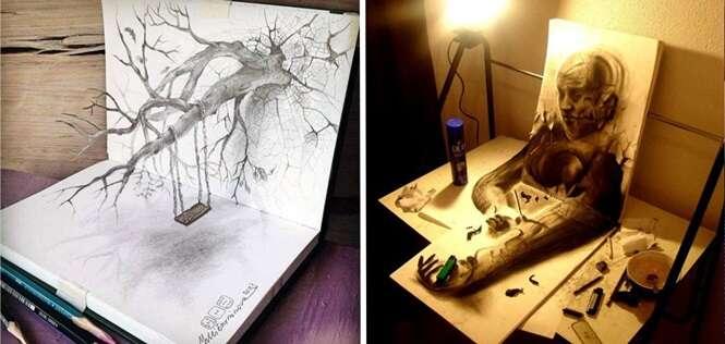 Impressionantes desenhos em 3D que vão fazer você olhar para cada detalhe