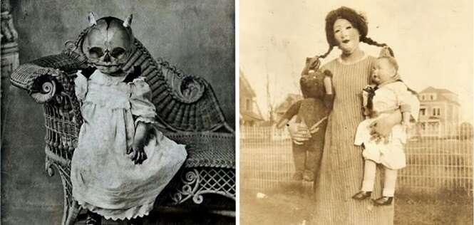 Fotos provando que as fantasias antigas de Dia das Bruxas eram muito mais assustadoras que as de hoje em dia