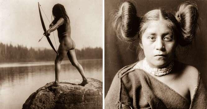 Fotos raras de 1900 mostram como os nativos americanos viviam 100 anos atrás