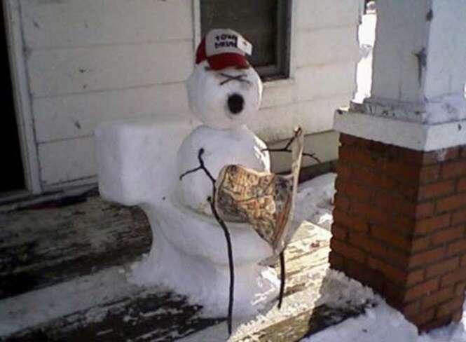 Os mais criativos bonecos de neve que você já viu na vida