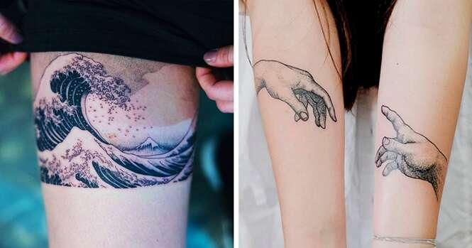 Tatuagens incríveis inspiradas em arte que você vai querer fazer