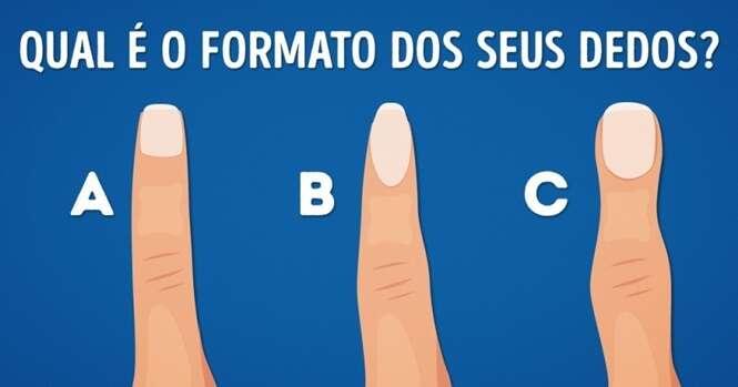 Descubra o que o formato dos seus dedos revela sobre você