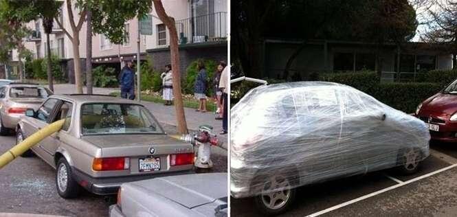 Satisfatórias vinganças contra motoristas que estacionaram como bem entenderam