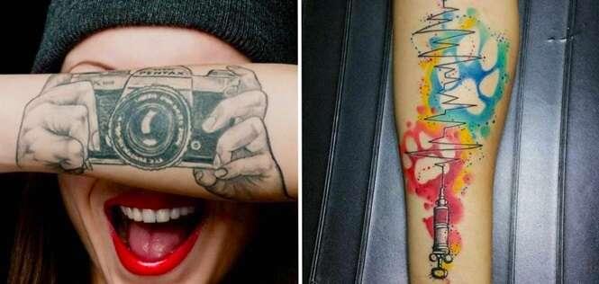 Tatuagens incríveis inspiradas em profissões
