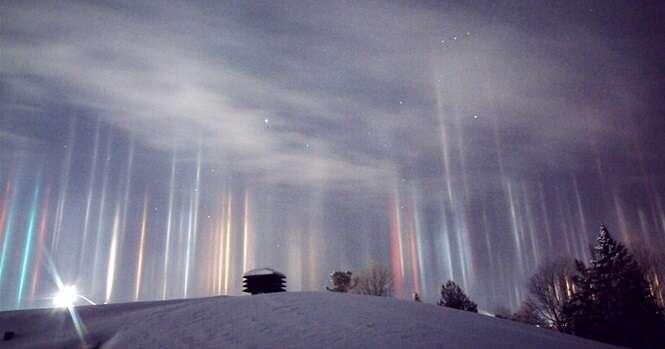 Fotos espetaculares de pilares de luz espalhados pelo mundo