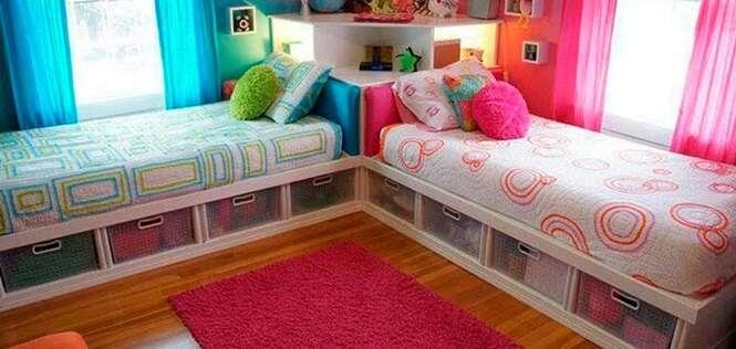Ideias criativas para quartos compartilhados por meninos e meninas
