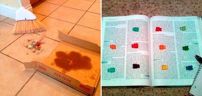 Fotos que provam que os estudantes são mais inteligentes do que parecem