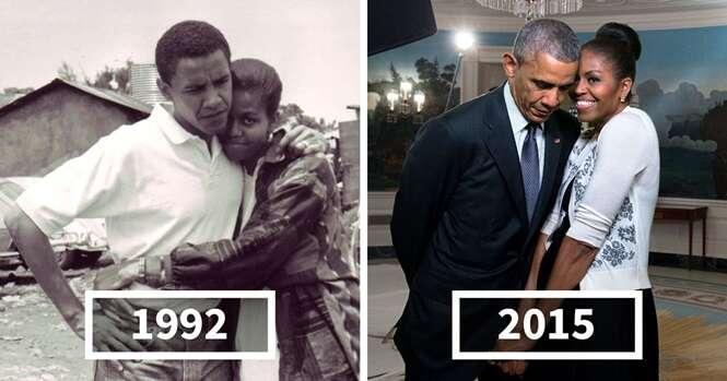 Fotos íntimas mostrando o amor entre Barack e Michelle Obama