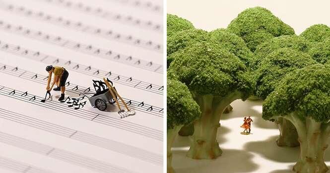 Artista japonês cria incríveis cenas em miniatura para calendário