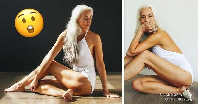 Esta modelo ainda posa usando trajes de banho aos 61 anos e este é o seu segredo de beleza