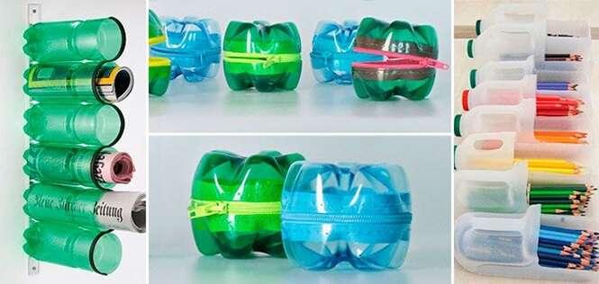 Formas criativas para reutilizar garrafas pet