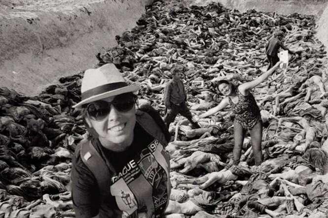 Judeu faz montagens chocantes com o objetivo de mostrar que não devemos tirar fotos no Memorial do Holocausto