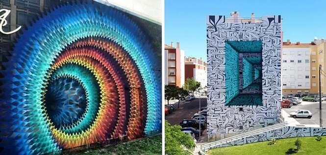 Artes urbanas que parecem passagens para outros mundos
