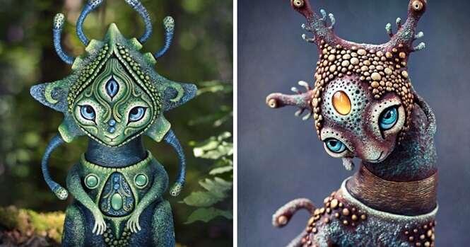 Artista faz adoráveis criaturinhas místicas que levam paz, luz e felicidade para nossas casas