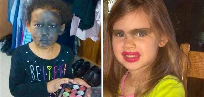 Crianças que têm um grande potencial para serem excelentes maquiadoras – ou não