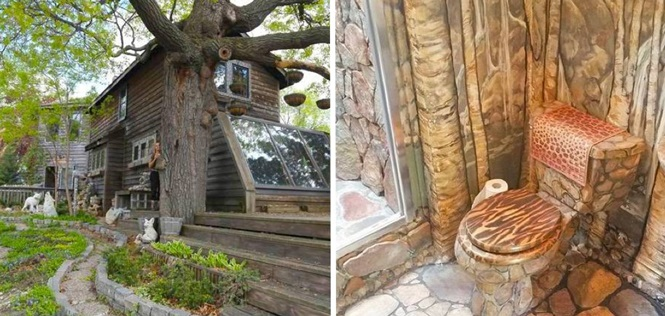 Esta mulher conseguiu um resultado ímpar após 35 anos decorando sua casa com cola e pedras