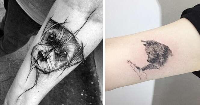 As melhores ideias de tatuagens inspiradas em cachorros que você vai ver na vida