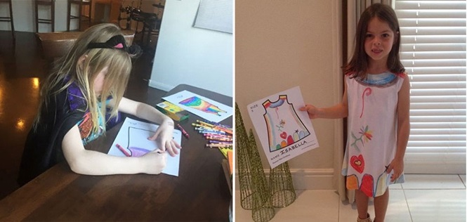 Em projeto inovador, crianças são estilistas de suas próprias roupas