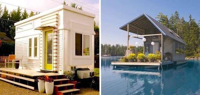 Casas minúsculas, mas aconchegantes que foram construídas com muita criatividade