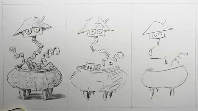Artistas são desafiados a desenhar em 10 minutos, 1 minuto e 10 segundos