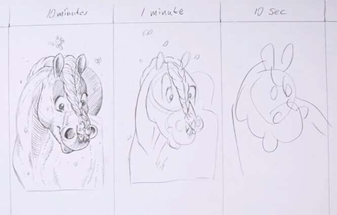 Desafio pede que artistas desenhem em 10 minutos, 1 minuto e 10 segundos
