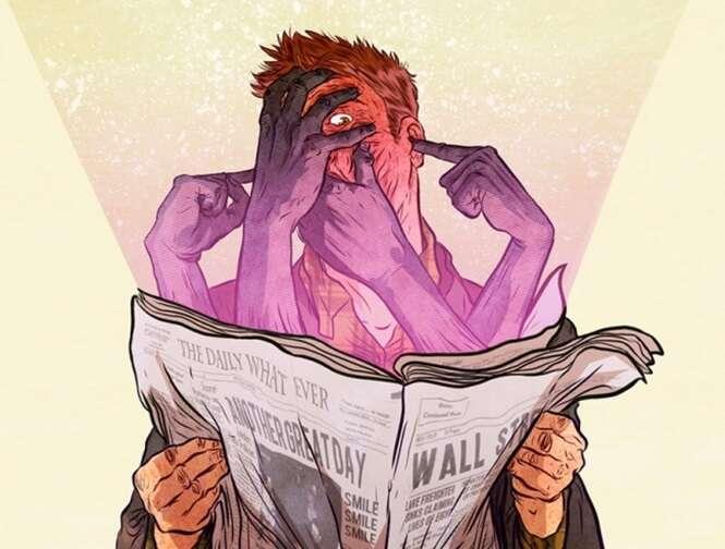 Incisivas ilustrações de um artista espanhol