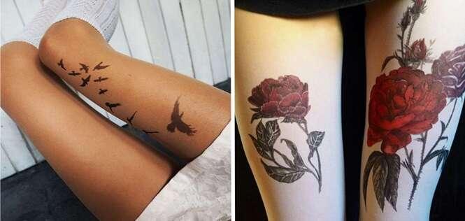 Essas meias provam que todo mundo tem vontade de fazer tatuagem, mas tem medo de ter uma