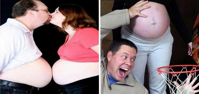 Fotos estranhas de álbuns de gravidez