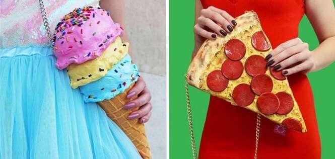 Bolsas inspiradas em comida que vão te deixar fome