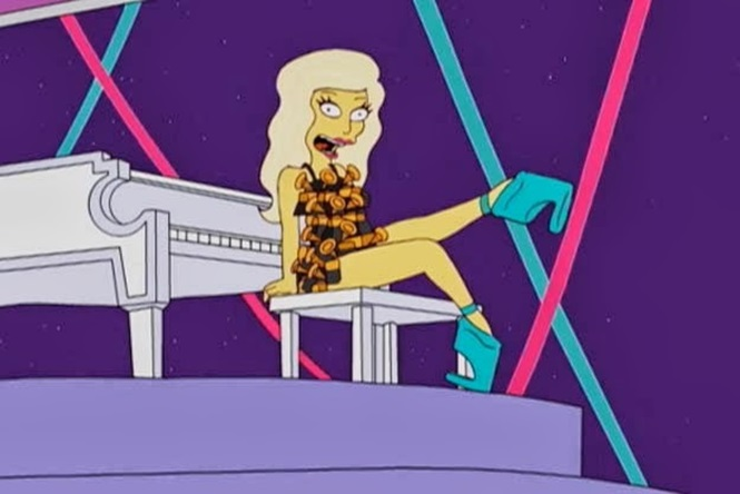 "Simpsons ""previu"" o show de Lady Gaga no Super Bowl"