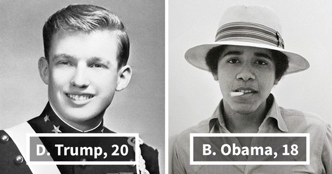 Presidentes dos EUA quando eram jovens