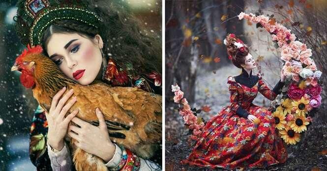 """Esta fotógrafa """"dá vida"""" a contos de fadas russos"""
