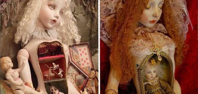 Bonecas que trazem em seu interior um mundo bizarro e distorcido