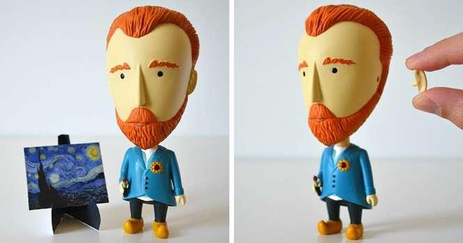 Este boneco do Van Gogh com uma orelha removível é um presente perfeito para quem ama arte