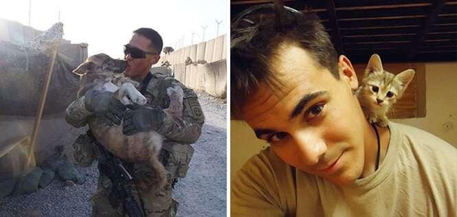Animais e soldados que viraram melhores amigos